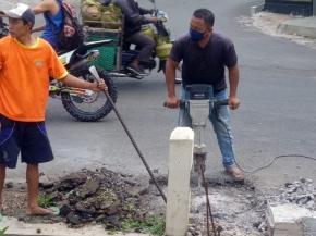 Pemasangan sambungan pelanggan Baru di Jl. Kolonel Sugiono, Susukan, Ungaran Timur